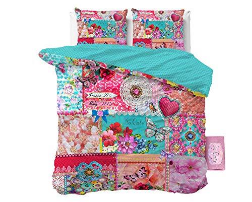 SLEEP TIME Bettwäsche So Cute, 200cm x 200cm, Mit 2 Kissenbezüge 80cm x 80cm, Bunt