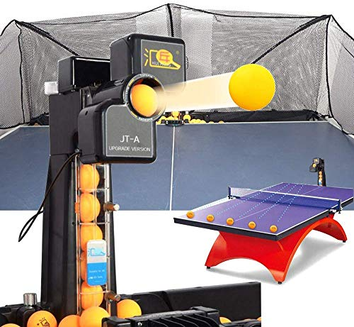 ZXMT Ping Pong Robot Machine JT-A Table Tennis Robot Machine with Catch Net for Training
