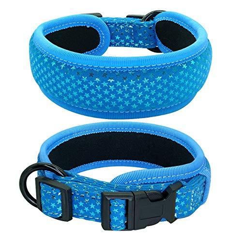 YXDZ Collar De Perro Acolchado Suave Collares De Perro Gruesos Y Anchos Ajustables para Perros Medianos Grandes Pug Beagle Rosa Negro Azul SML Petshop