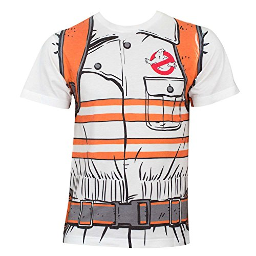 Camisa de Disfraz de Cazafantasmas - Blanco - Large