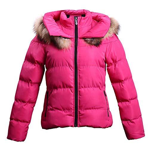 ELEAMO Womens gewatteerde korte gewatteerde jas Womens Fashion jassen Trending Zara jas Down Jacket Hooded winter dikker winddichte zak Puffer jas