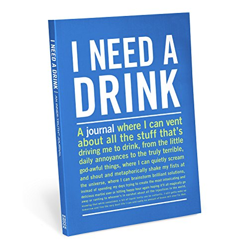Knock Knock I Need A Drink Inner-Truth Journal (Large, 7 x 9.5-inches)