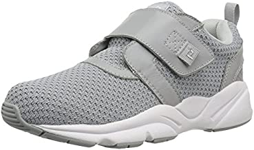Propet Women's Stability X Strap Sneaker, Light Grey, 7.5 Wide