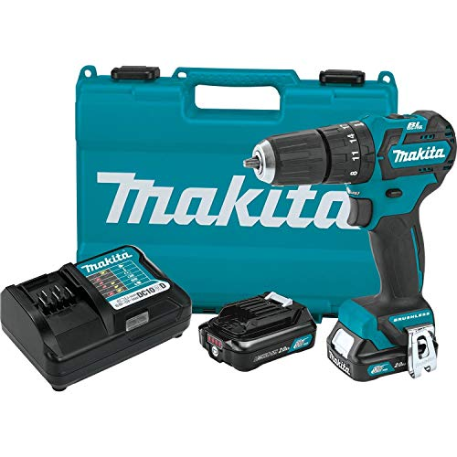 "Makita PH05R1 12V max CXT Litio-Ion sin Escobillas 3/8"" Kit de Taladro de Martillo de 3/8"" (2.0Ah)"