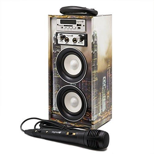 Karaoke DigiVolt HIFI-16 by MovilCom | Altavoz Bluetooth Reproductor mp3 Reproductor Multimedia...