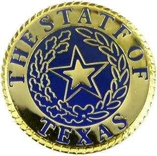 Enamel State of Texas Seal Jacket Lapel Pin Tie Tack Lone Star Western Hat Gift