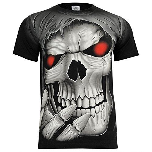 T-Shirt Rock Chang Rock Eagle Heavy Metal Biker Tattoo Rocker Gothic (4005) (XXL)