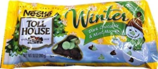Nestle Toll House Dark Chocolate and Mint Baking Morsels Chips Winter Theme (Pack of 3) 10oz Bag
