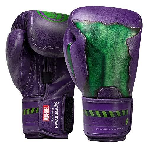 Hayabusa Marvel Hero Elite Boxing Gloves for Men and Women - Hulk, 12 oz