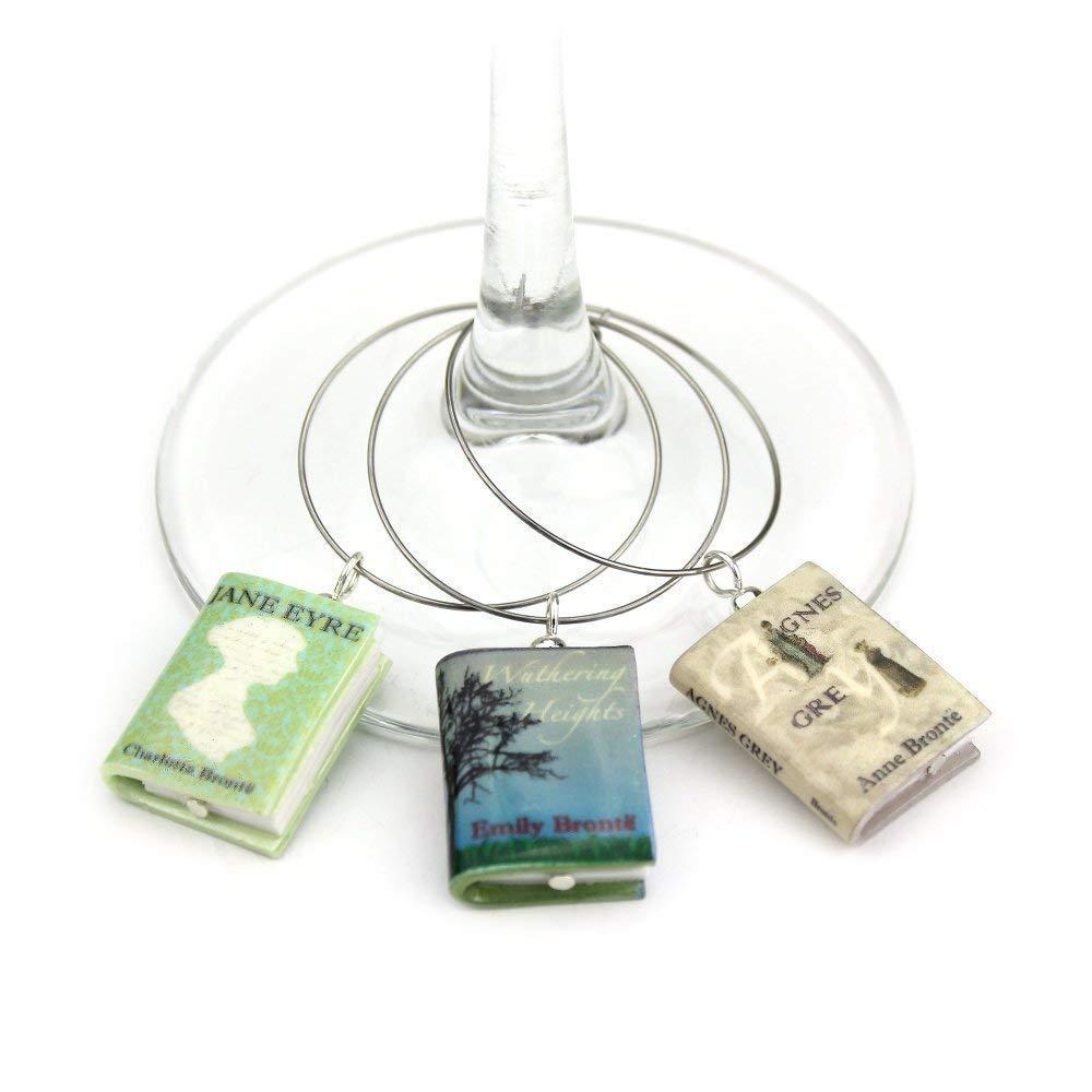 Bronte Sisters Clay Mini Book Stainless Ring Quantity limited Hoo Soldering Wine Hook Steel