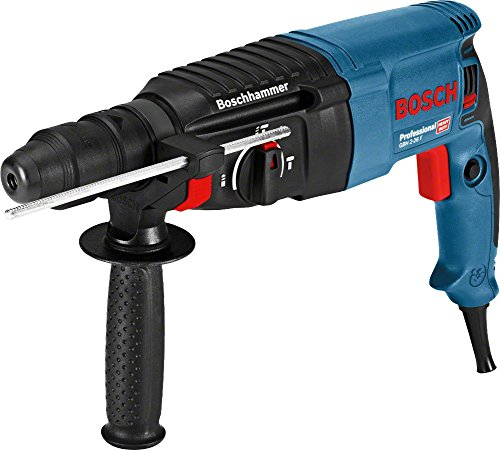 comparateur Bosch Professional06112A4000 Marteau perforateur GBH2-26 F (830 W, arbre de rechange SDS Plus, force d'impact: 2,7 J, disponible) Bleu