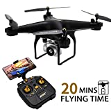 JJRC H68 Drone with Camera for Adults, 20+20 MINS Longer Flight Time Drone with 720P Camera FPV WiFi RC Quadcopter with Altitude Hold, Headless Mode for Beginners with One Key Start/Land, 3D Flips
