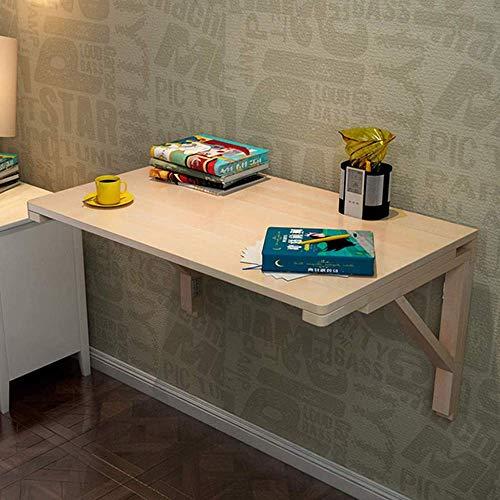 Mesa montada en la pared Mesa de pared plegable Mesa de pared de madera maciza Mesa de comedor Detalle Plegable Computadora de escritorio Aprendizaje Mesa de pared Mesa plegable de mesa de estudio Tam