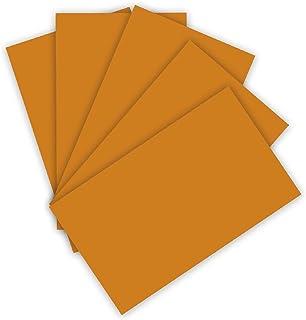 folia 614/50 76 Lot de 50 feuilles de papier cartonné DIN A4 300 g/m² Terre cuite pour loisirs créatifs et création de car...