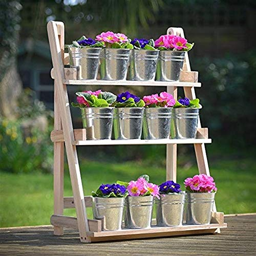 Flower rack LU massief hout meerlagige bloem staande decoratie plant bloempot staan bruiloft balkon tuintafel woonkamer bloem plank HJ59