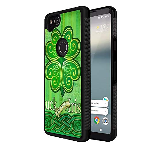 Phone Case Fit Google Pixel 2 (2017) (5 Inch) Celtic Clover Green Luck of The Irish