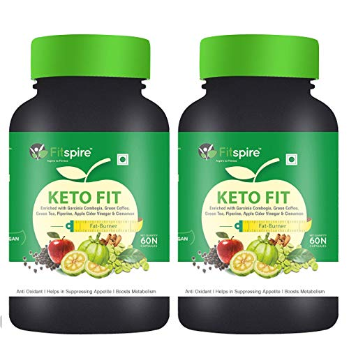 Fitspire Keto Fit Advance Weight Loss Capsules   Organic Weight Management   Green Tea + Garcinia Cambogia + Green Coffee + Piperine + Apple Cider Vinegar + Cinnamon)   Suppress Appetite & Reduce Cravings   60 Capsules – Pack of 2
