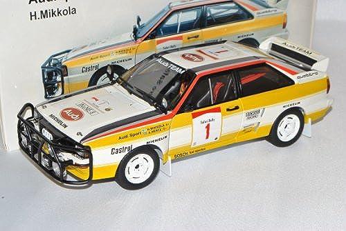 AUTOart Audi Quattro LWB A2 Gelb Weißs Rally Safari Mikkola Nr 1 1984 1980-1991 88401 1 18 Modell Auto