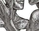 Formano Deko Figur Büste Paar Silber auf weißem Sockel Elegante Skulptur und Wohnzimmer Dekoration (32 cm) - 4