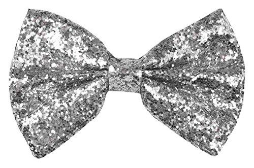 Boland 52901 - Fliege Glitter, Silber