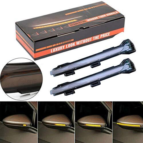 Ein Paar Dynamische LED Blinkerleuchten Spiegelanzeige Blinker für Golf 7 GTI 15+ Jetta MK5 / 7