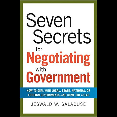 Seven Secrets for Negotiating with Government audiobook cover art