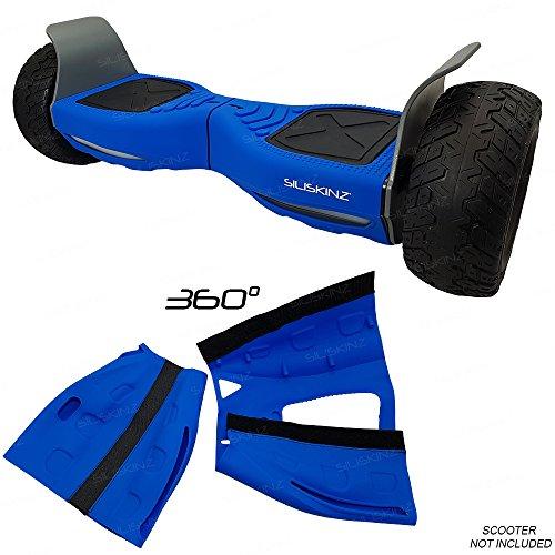 """SILISKINZ® Cubierta de la Caja de la Jalea del silicón de 360 Grados Hoverboard - para Todo Terreno 8.5""""Scooter Elegante de la Rueda 2 de Swegway (Azul)"""