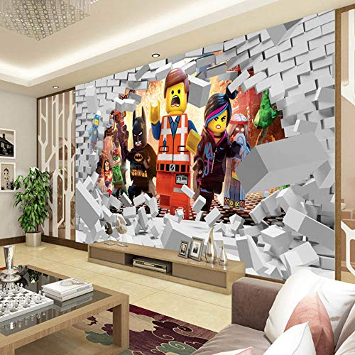 WLPBH 3D Mural Zelfklevend Behang (W) 400X (H) 280Cm Muur 3D Wraak Hero Film League Behang Behang Fotobehang Behang Kinderen Slaapkamer Kamer Decoratie Tv Achtergrond Muurdecoratie