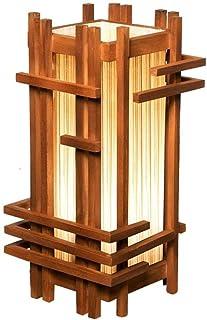 WYBFZTT-188 Chambre Chevet Lampe Moderne Asiatique Lampe de Table Cadre en Bois - Soft Light Parfait for Nuit
