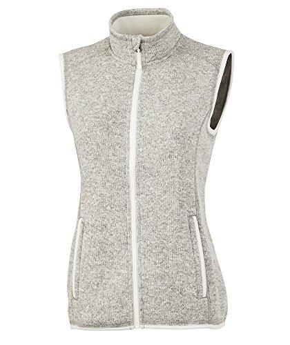 Charles River Apparel Women's Pacific Sweater Fleece Vest, Light Grey Heather, M