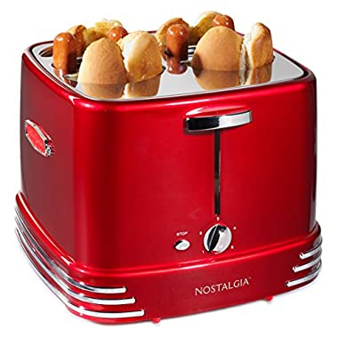 Nostalgia RHDT800AQ Four Hot Dogs & Buns Pop-Up Toaster