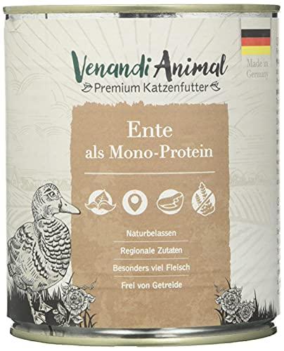 Venandi Animal Premium Nassfutter für Katzen, Probierpaket III, Huhn, Pute, Rind, Pferd, 1*Kalb, Truthahn, 6 x 800 g, getreidefrei und naturbelassen, 4.8 kg