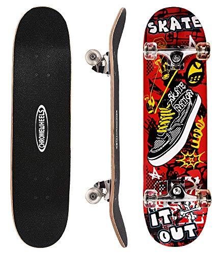 #9. ChromeWheels 31 inch Skateboard Complete Longboard