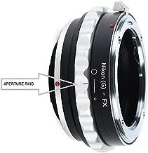 Adapter to Convert Nikon F-Mount D, G-Type Lens to Fujifilm X-Mount for Fuji X-Pro1, X-Pro2, X-E1, X-E2, X-E2S, X-M1, X-A1, X-A2, X-A3, X-A10, X-T1, X-T2, X-T10, X-T20 Mirrorless Digital Camera