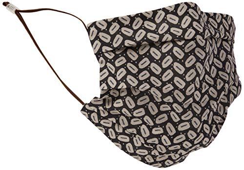 CODELLO Damen Gesichtsmaske | Mund-Nasen-Maske mit Kaffeebohnen-Druck aus Baumwolle für Herren, Anthracite, Einheitsgröße