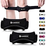 Cambivo 2 Pack Knee Strap Brace, Knee Pain Relief and Patella Band, Knee