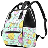 Inhomer Funny Sheep Diaper Bag Travel Mom Bags Nappy Backpack Large Capacity for Baby Care