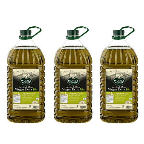 Caja 3 Garrafas PET 5 L | Aceite de Oliva Virgen Extra BIO | Muñoz – Comprar Aceite de Oliva Virgen Extra