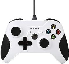 Controle com fio HNQH para Xbox One, joystick de jogo de vibração dupla com porta de fone de ouvido de 3,5 mm para PC Wind...