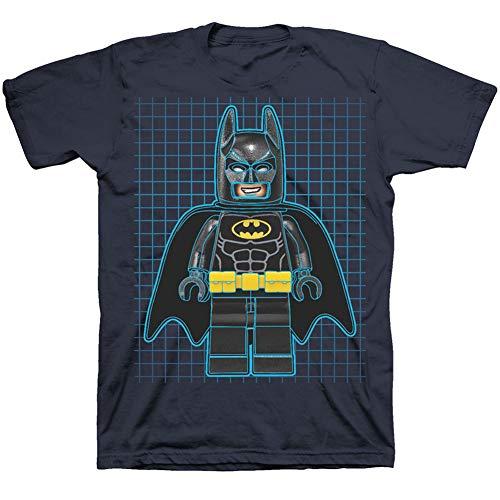 LEGO Batman Little Boys Graphic Tee Shirt (7, Iris Navy)