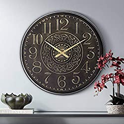 River Parks Studio Gold Scroll 31 1/2 Round Hand-Made Wall Clock