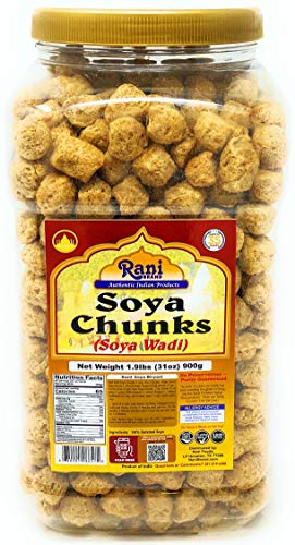 Rani SOYA Chunks Nuggets (High Protien) Vadi 31 Ounce (900g)~ All Natural, Salt-Free | Vegan | No Colors | Gluten Free Ingredients | Non-GMO | Indian Origin | Meat Alternate Substitute