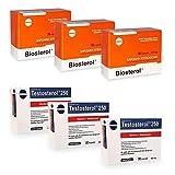 3 X BIOSTEROL 108CAP + 3 X TESTOSTEROL 90CAP MEGABOL AUMENTA TESTOSTERONA PRO-HORMONAL