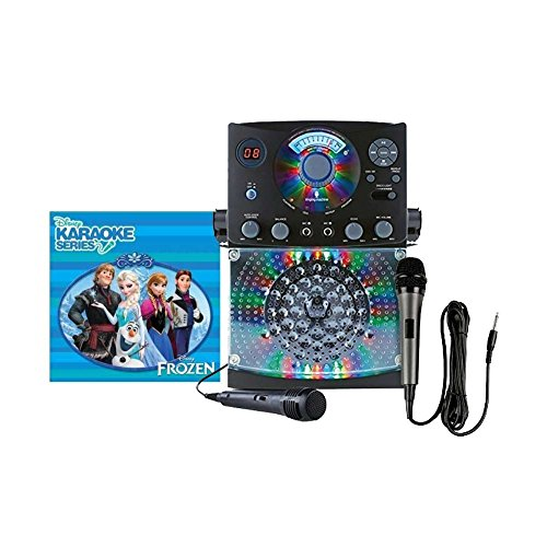 Singing Machine Karaoke with Bluetooth and LED Lights (Black) with Dynamic Microphone with 10 Ft. Cord and Frozen