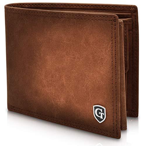 Brooklyn - Große Geldbörse mit Münzfach - TÜV geprüfter RFID, NFC Schutz - geräumiges Portemonnaie - Geldbeutel für Herren und Damen - Portmonaise inkl. Geschenkbox (Dunkelbraun - Soft)