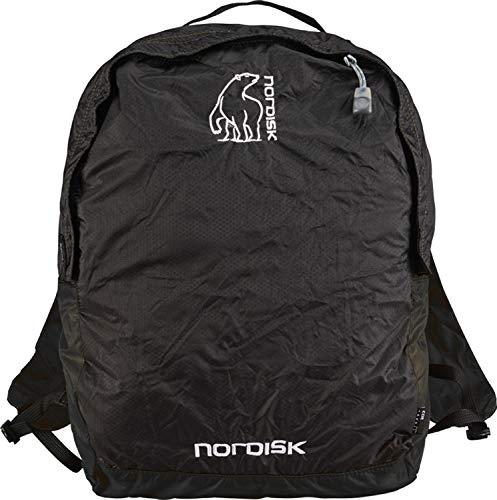 Nordisk Nibe Ultraleichter Tages Rucksack, 12 L, Ideal für Outdoor, Freizeit, Reisen, Wandern, Einkaufen, 70 g, 30D Cordura Nylon Rip-Stop, packbar, schwarz