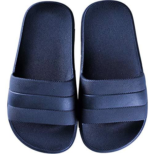 GURGER Claquettes Femme Homme Pantoufles Bain Douche Chaussures de Piscine Plage Chaussons Ete Slide Sandales Bout Ouvert Bleu Taille 40 41