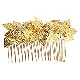 Sharplace Peine de Pelo Hoja de Color Dorado Nupcial Pinza de Pelo de Moda Joya