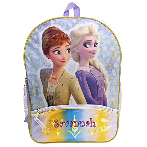 Personalized Licensed Disney's Frozen 2 Character Backpack - 16 Inch (Elsa and Anna)