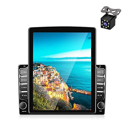 Radio Coche 2 DIN Android, Podofo Radio Coche Bluetooth con Pantalla táctil HD 1080P de 9,7 Pulgadas, Soporte de autoradio Coche WiFi FM Mirror Link y con Doble USB + cámara de Respaldo
